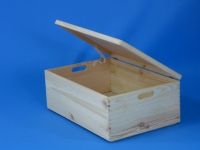 Wooden box with lid 600x400x230mm