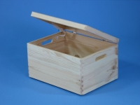 Wooden box with lid 400x300x230mm