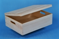Wooden box with lid 600x400x150mm